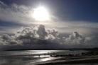 The sun shines above Garryvoe beach.