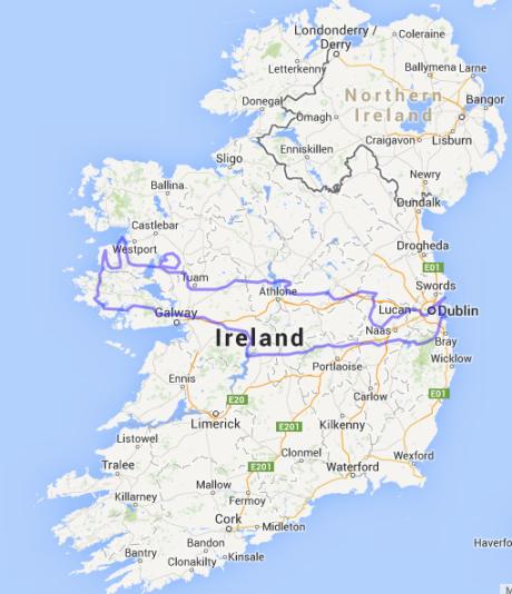 Map Crete Ireland 20394