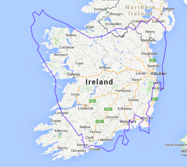 Map Of Ireland With Islands.How Big Are Those Islands Passive Impressions