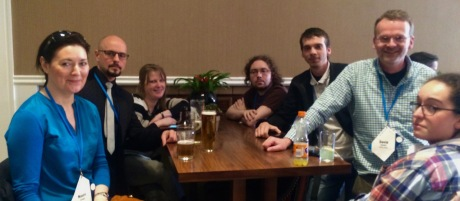 Some of the Irish attendees at QEDCon